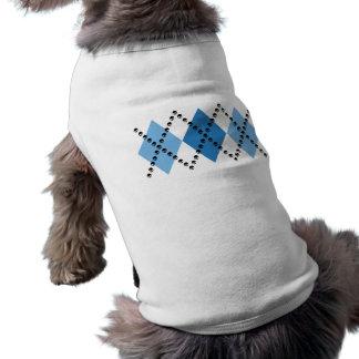 Camiseta Argyle mau azul