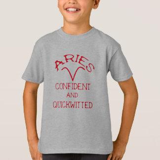 Camiseta Aries (texto vermelho)