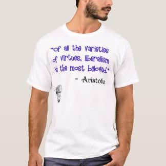 Camiseta Aristotle: Virtude amado do liberalismo