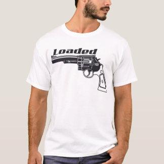 Camiseta Arma carregada da mão pela tinta do costume dos
