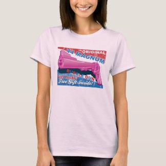 Camiseta Arma da bolha - revólver de 44 magnum no rosa