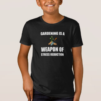Camiseta Arma da jardinagem da redução da tensão