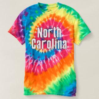 Camiseta Arma da mão de North Carolina, laço tingido