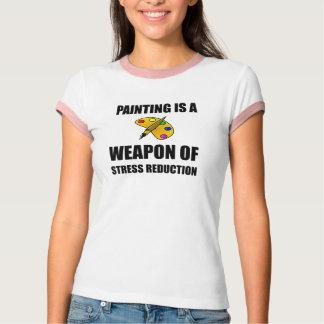 Camiseta Arma da pintura da redução da tensão