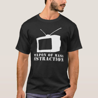 Camiseta arma da televisão da distracção maciça