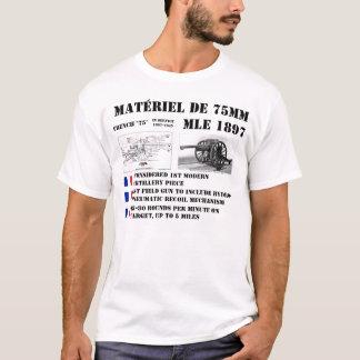 Camiseta Arma de campo do francês 75mm