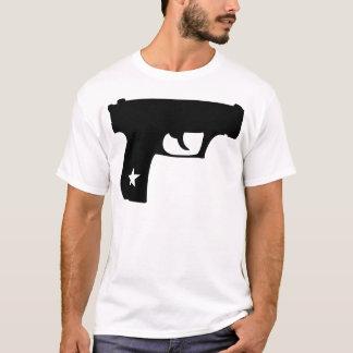 Camiseta Arma preta da estrela da pistola da bobina