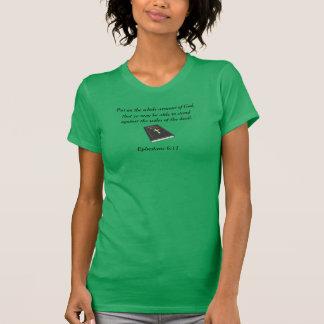 Camiseta Armadura do jérsei fino w/Bible do AA do deus