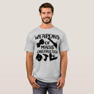 Camiseta Armas da construção maciça