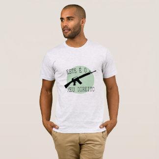 Camiseta Armas. Este é Meu direito.