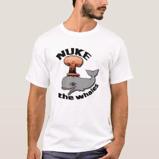 Camiseta Armas nucleares as baleias