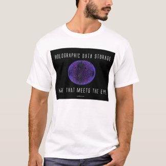 Camiseta Armazenamento de dados holográfico. Mais que
