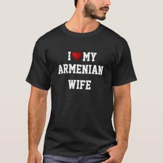 Camiseta ARMÉNIA: EU AMO MEU t-shirt ARMÉNIO da ESPOSA