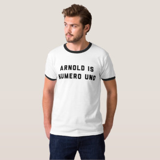 Camiseta Arnold é halterofilismo da ONU de Numero