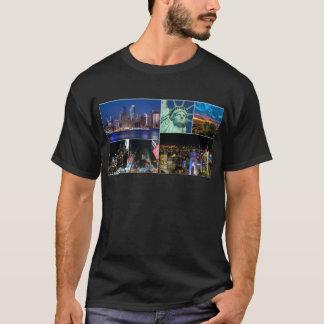 Camiseta Arquitectura da cidade da foto da colagem da Nova