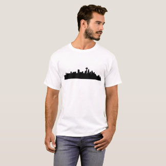 Camiseta arquitectura da cidade de seattle