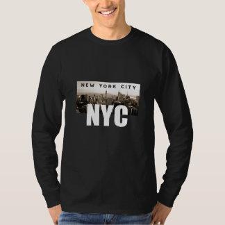 Camiseta Arquitetura da foto da skyline da Nova Iorque de