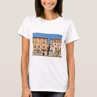 Camiseta Arquitetura italiana na praça Navona, Roma, Italia