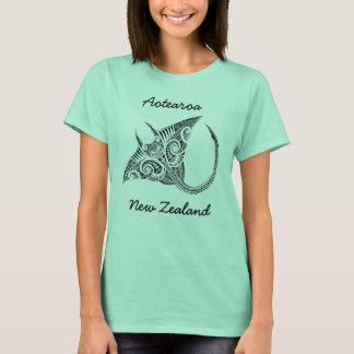 Camiseta Arraia-lixa de Aotearoa Nova Zelândia