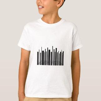 Camiseta Arranha-céus do código de barras