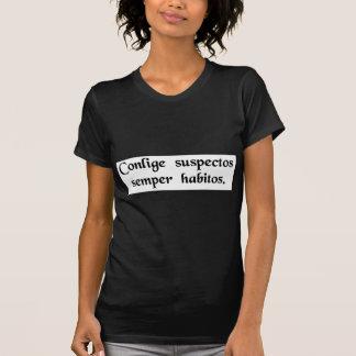Camiseta Arredonde acima os suspeitos usuais