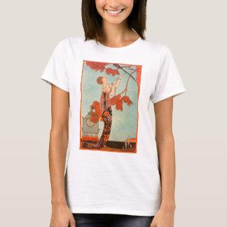 Camiseta Art deco do vintage, pássaro Flighty por George