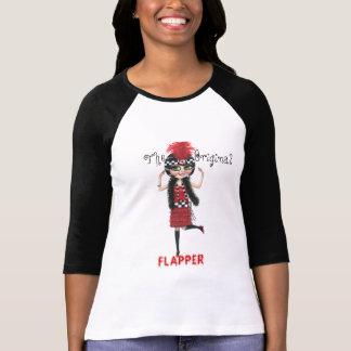Camiseta Art deco que ruje o 1920 da menina do Flapper dos