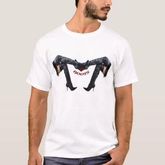 Camiseta Arte à moda da bota do estilete