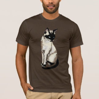 Camiseta Arte adorável do gato Siamese para o roupa dos