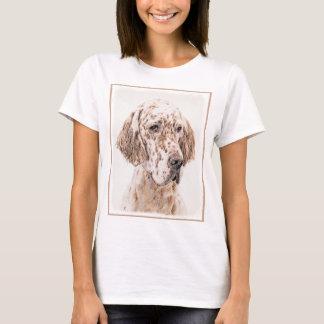Camiseta Arte alaranjada do cão da pintura de Belton do