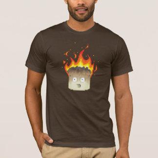 Camiseta Arte ardente do pixel do Marshmallow