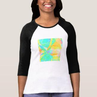 Camiseta Arte artística do fundo do abstrato da pintura do