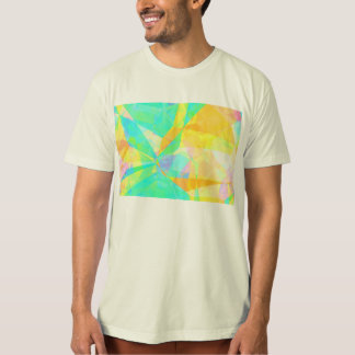 Camiseta Arte artística do fundo do abstrato da pintura do
