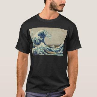 Camiseta Arte asiática - a grande onda fora de Kanagawa