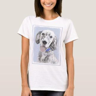 Camiseta Arte azul do cão da pintura de Belton do setter