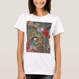Camiseta Arte bonita japonesa do samurai da gueixa