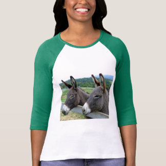 Camiseta Arte bonito da mula do asno dos animais de fazenda