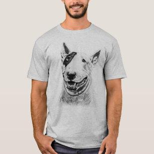 Camiseta Arte bonito do cão de bull terrier