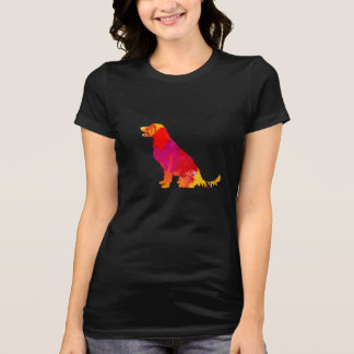 Camiseta Arte colorida do animal de estimação da silhueta