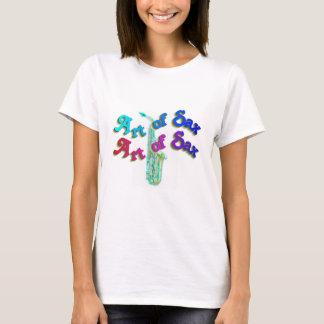 Camiseta Arte colorida do t-shirt das mulheres da música do