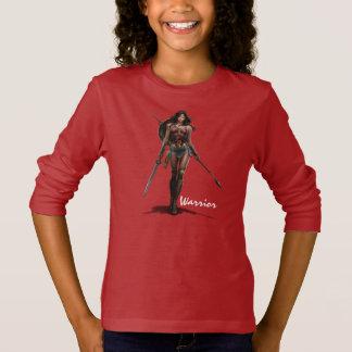 Camiseta Arte cómica Batalha-Pronta da mulher maravilha