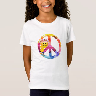 Camiseta Arte da aguarela do Emoticon do Hippie da paz