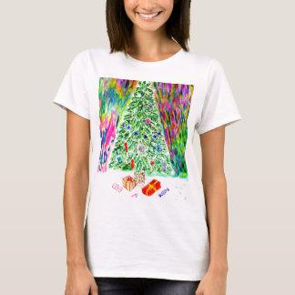 Camiseta Arte da árvore do Xmas