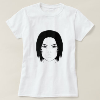 Camiseta Arte da cara da mulher
