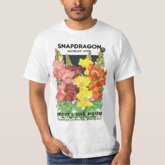 Camiseta Arte da etiqueta do pacote da semente do vintage,