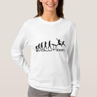 Camiseta Arte da evolução do esporte do Hurdler dos