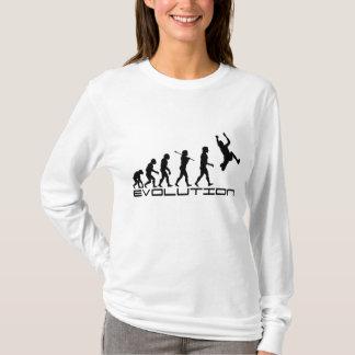 Camiseta Arte da evolução do esporte do salto triplo de