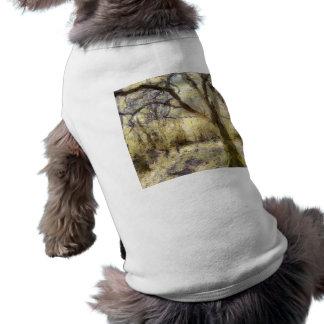 Camiseta Arte da floresta do nascer do sol