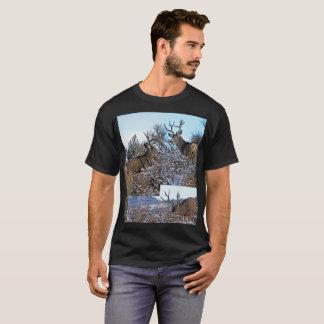 Camiseta Arte da foto dos cervos de mula