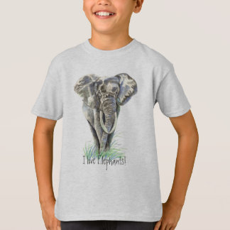 Camiseta Arte da natureza animal de elefante africano da